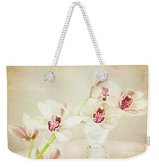 Pretty Orchids Weekender Tote Bag by Kim Andelkovic