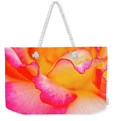 Pretty Petal Curves Weekender Tote Bag by Teri Virbickis