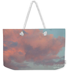 Pretty Pink Clouds Weekender Tote Bag by Ana V Ramirez