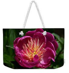 Pretty Pink Peony Flower Weekender Tote Bag