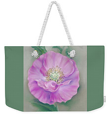 Pretty Pink Poppy Weekender Tote Bag