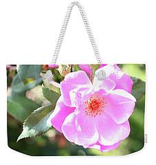 Pretty Pink Rose Weekender Tote Bag