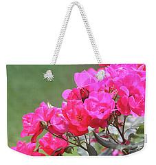 Pretty Pink Roses Weekender Tote Bag