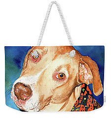 Pretty Please, Dog Portrait, Dog Painting, Dog Print, Dog Art Weekender Tote Bag