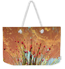 Weekender Tote Bag featuring the photograph Pretty Pond Weeds by Ellen O'Reilly