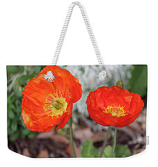 Pretty Poppies Weekender Tote Bag