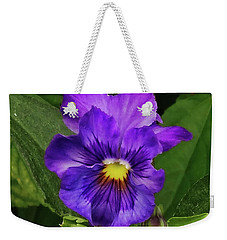 Pretty Purple Pansie Weekender Tote Bag