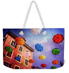 Pretty Umbrellas In Carouge Geneva  Weekender Tote Bag