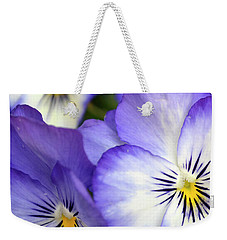 Pretty Violas Weekender Tote Bag