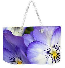 Pretty Violas Weekender Tote Bag by Ann Bridges