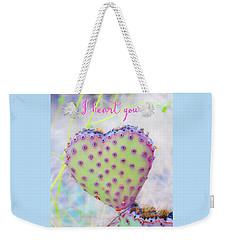 Prickly Heart Weekender Tote Bag by Karen Stephenson