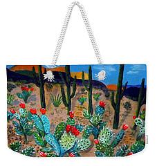 Prickly Pear Cactus Tucson Weekender Tote Bag