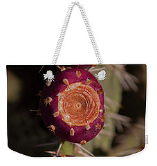 Prickly Pear Cactus With Fruit-signed-#1016 Weekender Tote Bag