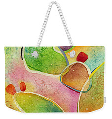 Weekender Tote Bag featuring the painting Prickly Pizazz 1 by Hailey E Herrera