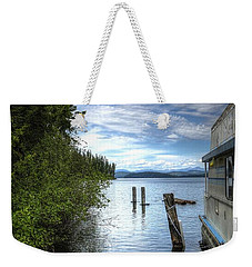 Priest Lake Houseboat 7001 Weekender Tote Bag