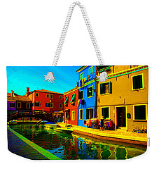 Weekender Tote Bag featuring the pastel Primary Colors 2 by Donna Corless
