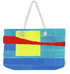 Weekender Tote Bag featuring the photograph Primary Stripes Collage by Carol Leigh