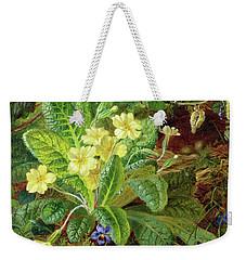 Primrose And Robin Weekender Tote Bag by William John Wainwright