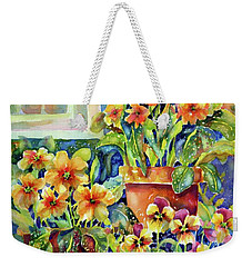 Primroses And Pansies II Weekender Tote Bag