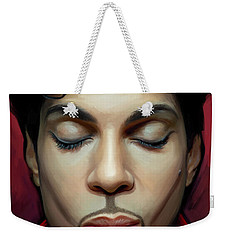 Weekender Tote Bag featuring the painting Prince Artwork 2 by Sheraz A