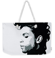 Weekender Tote Bag featuring the painting Prince by Ashley Price