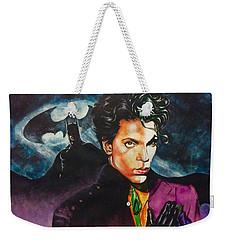 Weekender Tote Bag featuring the painting  Prince Batdance by Darryl Matthews