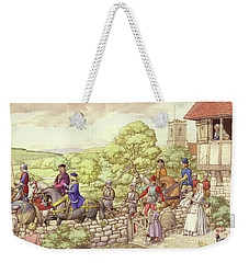Prince Edward Riding From Ludlow To London Weekender Tote Bag by Pat Nicolle