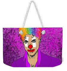 Weekender Tote Bag featuring the drawing Prince by Jason Tricktop Matthews