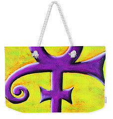 Prince Musician Purple Symbol Weekender Tote Bag