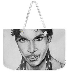 Weekender Tote Bag featuring the drawing Prince by Patrice Torrillo