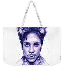 Prince Purple Watercolor Weekender Tote Bag by Olga Shvartsur