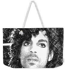 Prince - Tribute Sketch In Black And White 3 Weekender Tote Bag