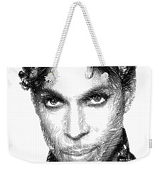 Prince - Tribute Sketch In Black And White Weekender Tote Bag