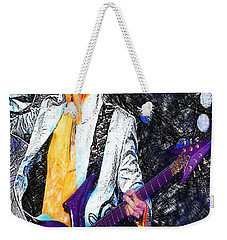 Prince - Tribute With Guitar Weekender Tote Bag
