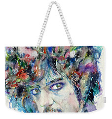 Prince - Watercolor Portrait Weekender Tote Bag by Fabrizio Cassetta