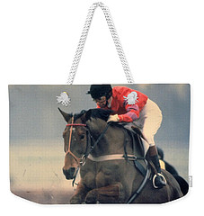 Princess Anne Riding Cnoc Na Cuille At Kempten Park Weekender Tote Bag