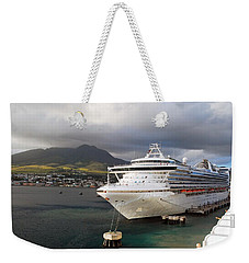 Princess Emerald Docked At Barbados Weekender Tote Bag