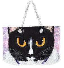 Princess Fiona -tuxedo Cat Weekender Tote Bag by Carrie Hawks