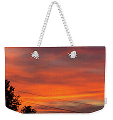 Weekender Tote Bag featuring the photograph Princeton Junction Sunset by Steven Richman