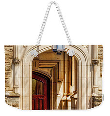 Weekender Tote Bag featuring the photograph Princeton University 1901 Laughlin Hall by Susan Candelario