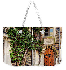 Weekender Tote Bag featuring the photograph Princeton University Foulke Hall II by Susan Candelario