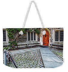 Weekender Tote Bag featuring the photograph Princeton University Foulke Hall by Susan Candelario