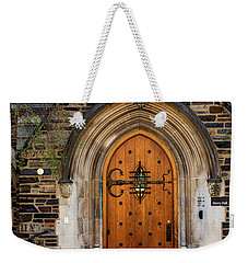 Weekender Tote Bag featuring the photograph Princeton University Henry Hall by Susan Candelario