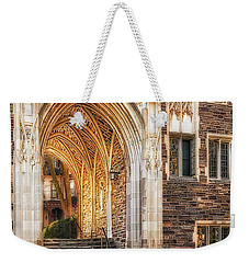 Weekender Tote Bag featuring the photograph Princeton University Lockhart Hall Dorms by Susan Candelario