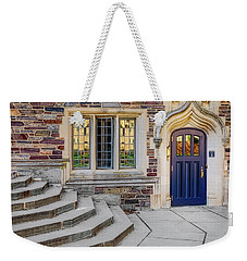 Weekender Tote Bag featuring the photograph Princeton University Lockhart Hall by Susan Candelario