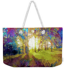 Prismatic Forest Weekender Tote Bag