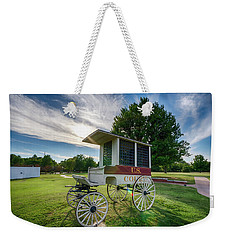 Weekender Tote Bag featuring the photograph Prison Wagon by James Barber