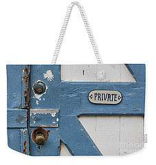 Private Weekender Tote Bag by Ana V Ramirez