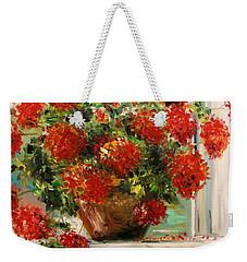 Prize Geranium Weekender Tote Bag