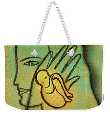 Weekender Tote Bag featuring the painting Pro Abortion Or Pro Choice? by Leon Zernitsky